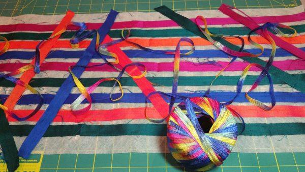Fiber and fabric scarf tutorial