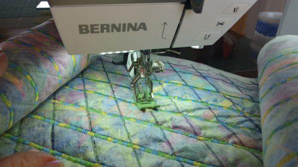 Fabric and fiber scarf tutorial