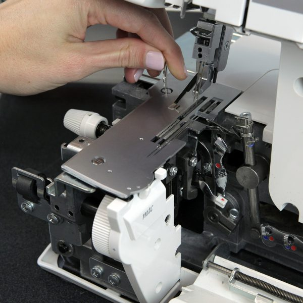 Overlocker Care Cleaning - remove stitch plate
