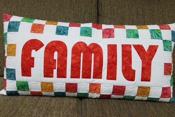 Raw edge appliqué pillow