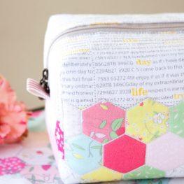 Hexie block zipper pouch