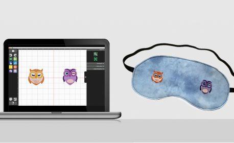 Owl Embroidered Sleep Mask
