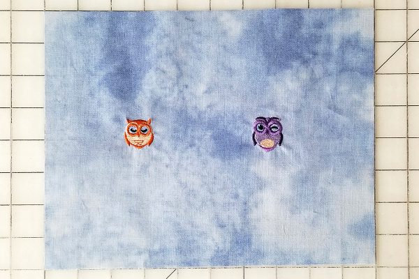 Owl Embroidered Sleep Mask - unhoop