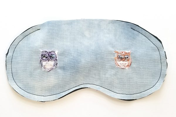 Owl Embroidered Sleep Mask - seamed