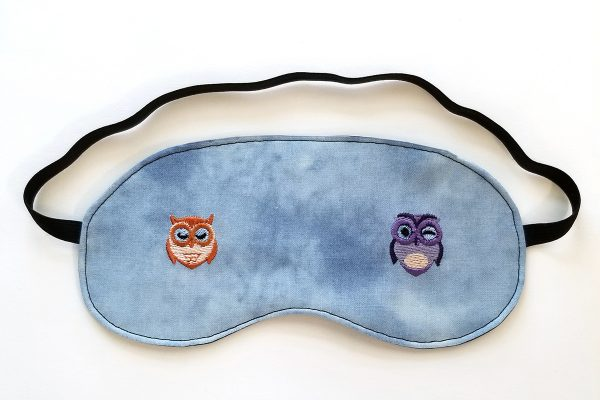 Owl Embroidered Sleep Mask