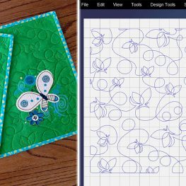 Use the Mask feature in the BERNINA Q-matic Longarm Quilting Automation System to remove stitches in a selected area. This works great when quilting over embroidery motifs.