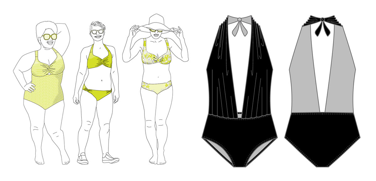 9996f05b56 First Crush Swimsuit · Pin-Up Girls Patterns from Bra-Makers Supply · Denise  Swimsuit