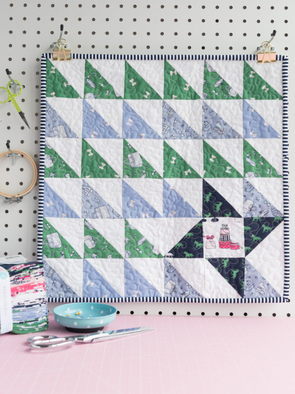 Turning Triangles Mini Quilt Pattern