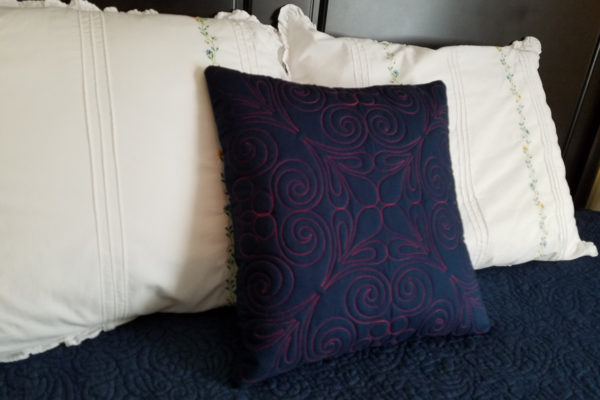 Creating New Designs Q-matic - finished pillow