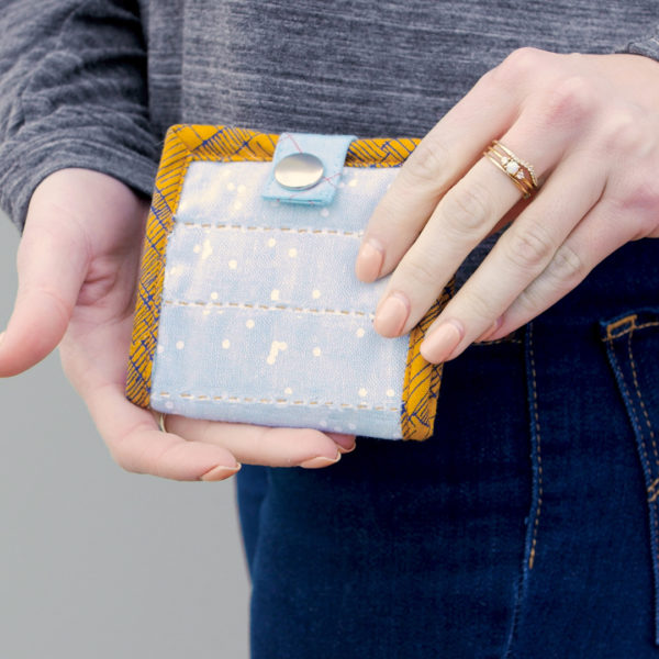 Hand Look Quilted Wallet - finished