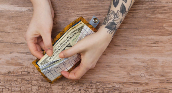 Hand Look Quilted Wallet
