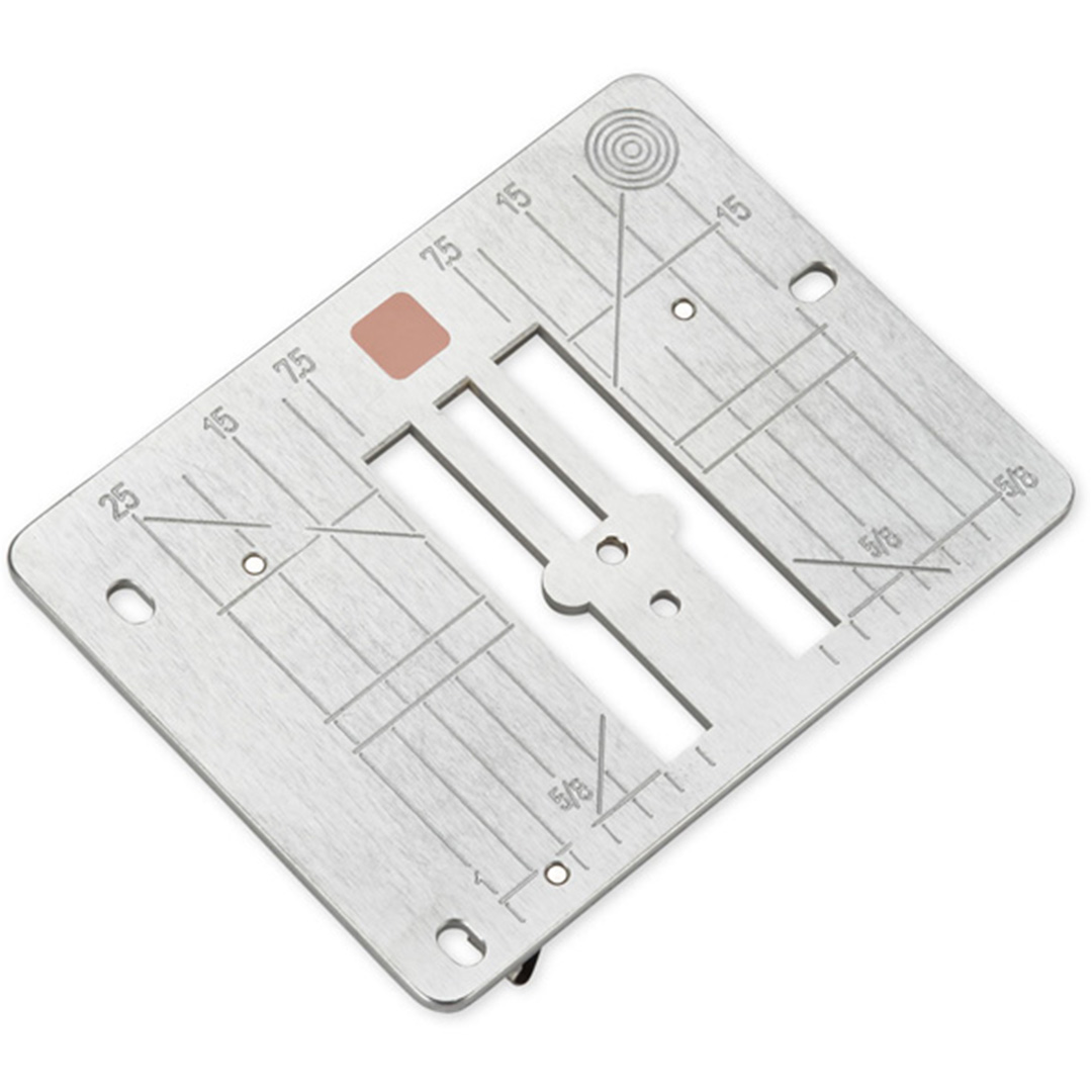 Straight stitch needle plate