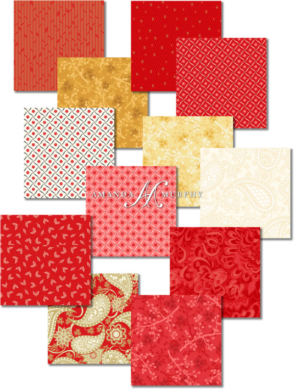BERNINA 125th Anniversary Quilt-along - Jubilee fabric selection