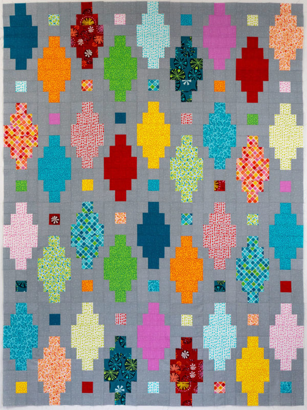 Beaded Lanterns Finished Quilt Top - Fandangle Fabric by Christa Watson