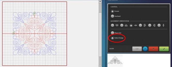 Creating New Designs Q-matic - align horizontal