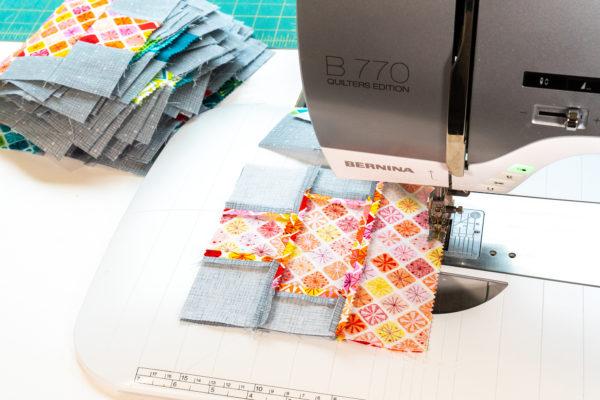 Sewing the Lantern Blocks