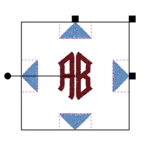 BERNINA Toolbox 2 Letter Monogram - Decoration Selected