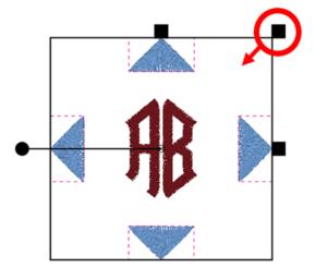 BERNINA Toolbox 2 Letter Monogram - Decoration Resizing