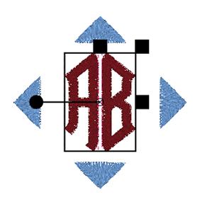 BERNINA Toolbox 2 Letter Monogram - Letters Selected