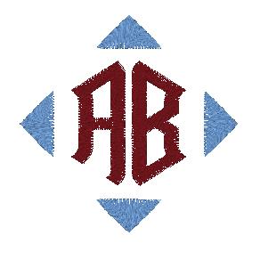 BERNINA Toolbox 2 Letter Monogram - Letters Resized