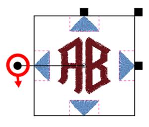 BERNINA Toolbox 2 Letter Monogram - Decoration Rotating
