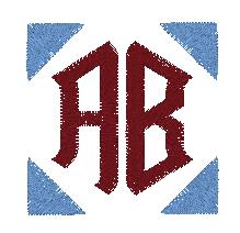 BERNINA Toolbox 2 Letter Monogram - Decorations Rotated