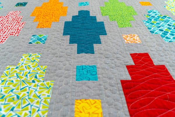 Beaded Lanterns Machine Quilting