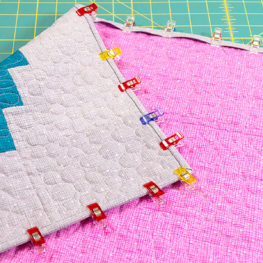 Beaded lanterns quilt along final binding at WeAllSew