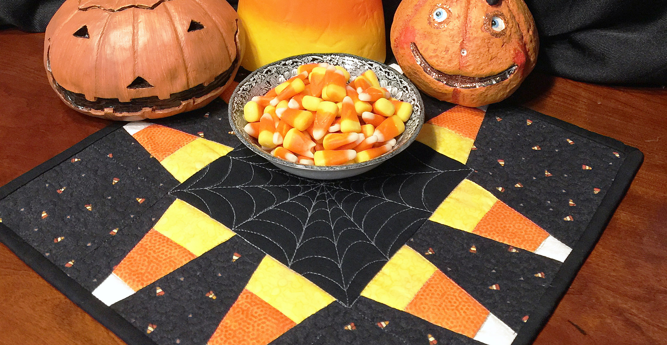 Candy Corn Mini Quilt from WeAllSew