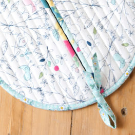 Circle Potholder Tutorial from WeAllSew