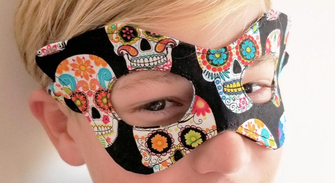 Halloween mask tutorial at WeAllSew