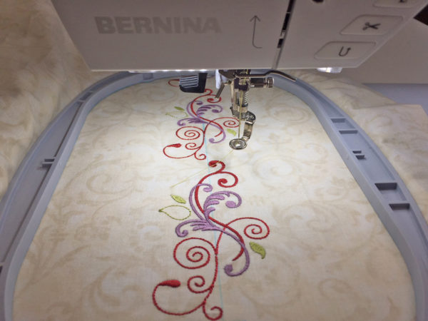 Design Positioning in Machine Embroidery - 2nd Stitched