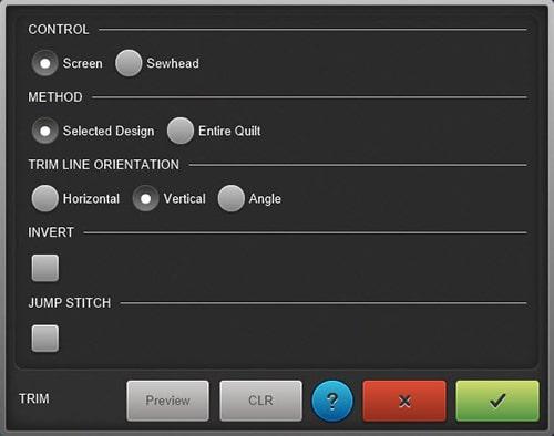 Q-matic Markers Feature Trim Screen