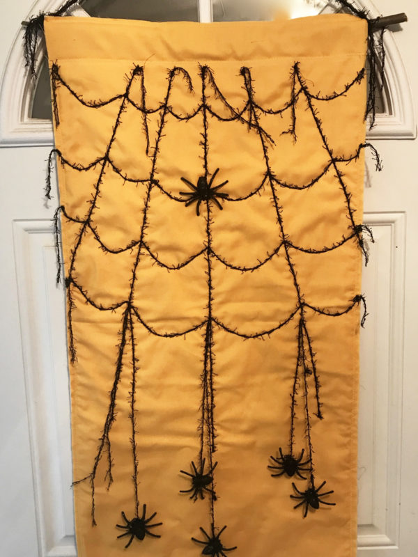 Spider Web Door Banner