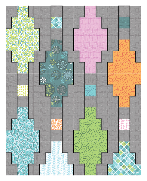 Stitch in the Ditch Quilting Plan
