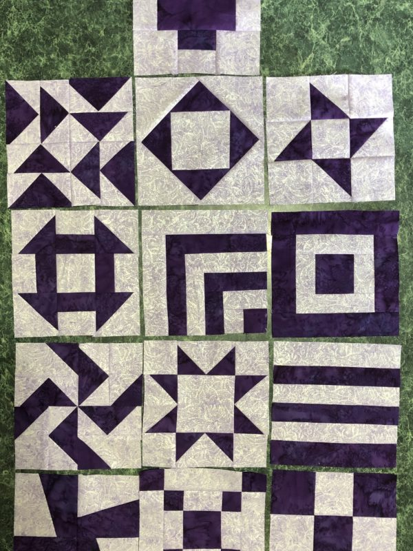 Grapes of Wrap Anniversary Quilt