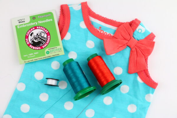 we all sew part 5 embroider on knits stabilizers and needles baby onesie