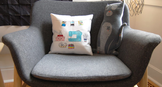 Invisible zipper pillow cover tutorial from WeAllSew