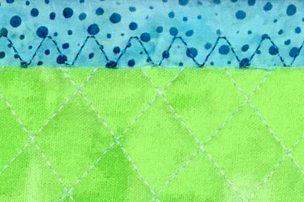 Little Art Quilt binding