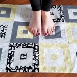 Modern Floor Cloth from WeAllSew