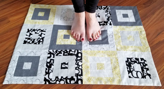 Modern Floor Cloth from WeAllSew