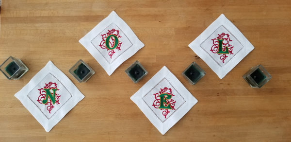 Embroidered Holiday Napkins with BERNINA Toolbox