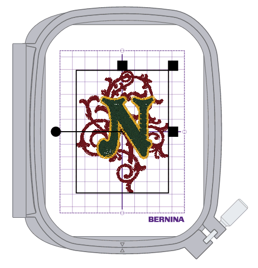 Embroidered Holiday Napkins with BERNINA Toolbox - N Monogram Centered in Medium Hoop