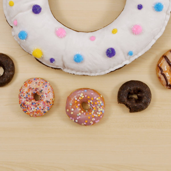 DIY Sprinkle Donut Pillow