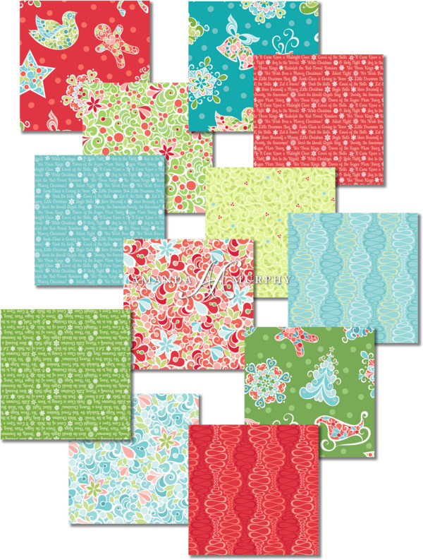 Assorted Prints from the Christmas Magic collection for Contempo of Benartex