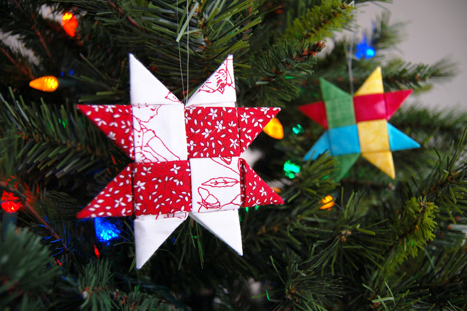 Make A Danish Star Ornament With Fabric Weallsew