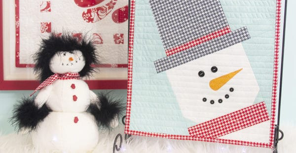Jolly Snowman Table Topper at WeAllSew