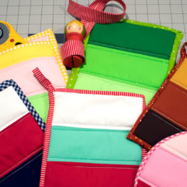 Holiday Color Block Hot Pads