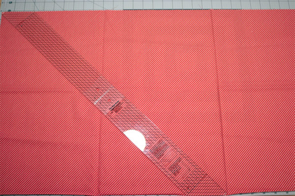 Line Up Ruler on Fabric Ends
