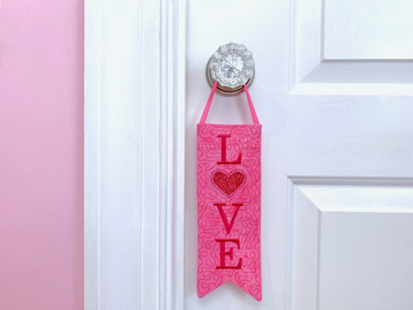 Embroidered Door Knob Banner for Valentine's Day